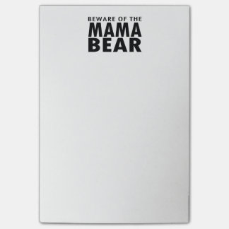 Passen Sie von den Post-Itanmerkungen Mutter-Bear Post-it Klebezettel