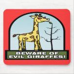 Passen Sie von den schlechten Giraffen Mousepad au