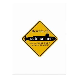 Passen Sie von den Unterseebooten auf Postkarte