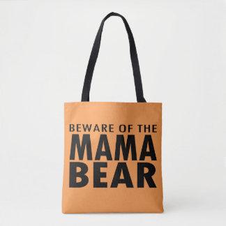 Passen Sie von der Mutter Bear Tote Bag auf Tasche