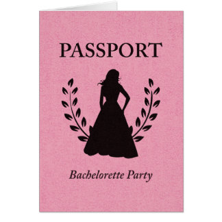 passeport de partie de bachelorette carte de vœux