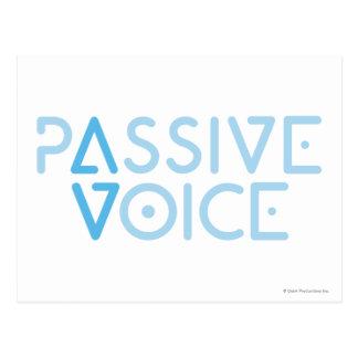 Passive Stimme Postkarte