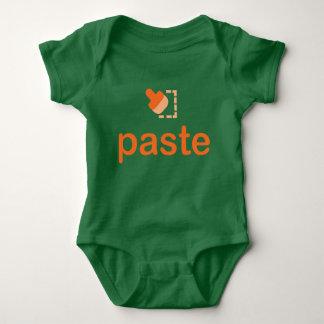 Paste paart Baby-Jersey-Bodysuit Baby Strampler