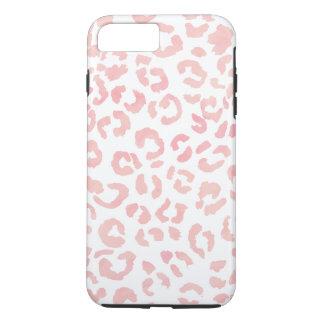 Pastell erröten rosa Leopardmuster-Aquarell iPhone 8 Plus/7 Plus Hülle