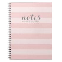 Pastell erröten rosa und graue Anmerkungen für Spiral Notizbuch