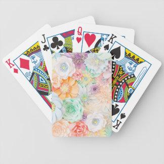 Pastell farbige Spielkarten