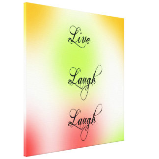 Pastell Live, Lachen, Liebe Gespannter Galerie Druck