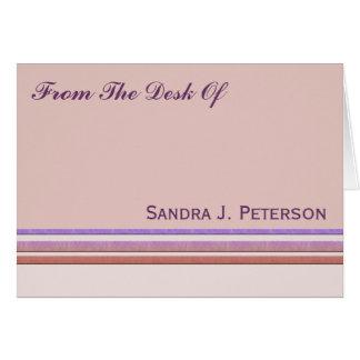 Pastell Stripes Geschäft Mitteilungskarte