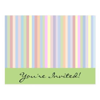 Pastell Stripes Postkarte