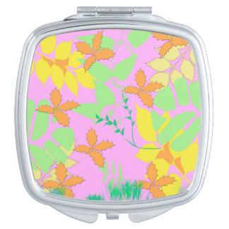 Pastell verlässt kompakten Spiegel Schminkspiegel