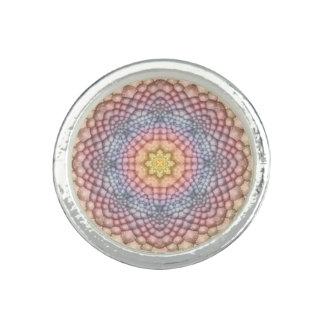 Pastell-Vintage Kaleidoskop-   Gewohnheits-Ringe Ringe