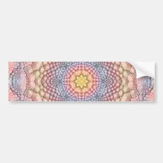Pastell-Vintager Kaleidoskop-Autoaufkleber Autoaufkleber
