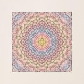 Pastell-Vintager Kaleidoskopchiffon-Schal Schal