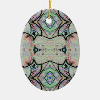 PastellAquarell-Kaleidoskop-Muster Keramik Ornament