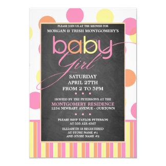 PastellBabyparty-Einladung der blasen-(Mädchen) 12,7 X 17,8 Cm Einladungskarte