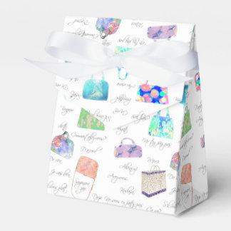 PastellblumenAquarell-Illustrations-Typografie Geschenkschachtel