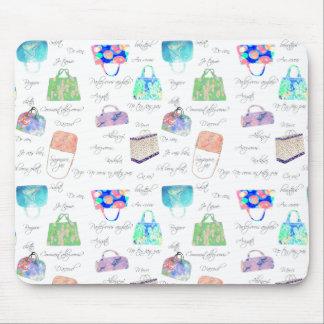 PastellblumenAquarell-Illustrations-Typografie Mauspad