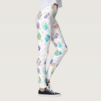 Pastellblumenhandtaschen-Illustrations-Typografie Leggings