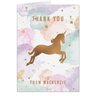 PastellEinhorn danken Ihnen Mitteilungskarte