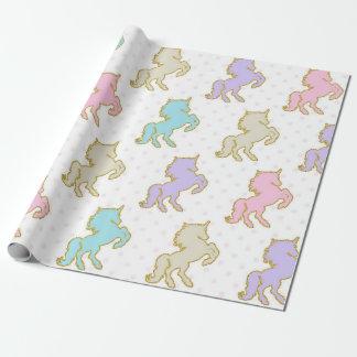 PastellEinhorn-Packpapier Geschenkpapier