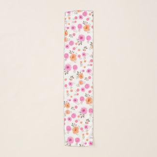Pastellfarbe des rosa Rosen-Blumenmusters Schal