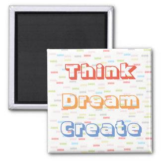 Pastellfarben denken, dass Traum Magneten Quadratischer Magnet