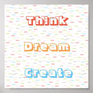 Pastellfarben denken, dass Traum Plakat herstellen