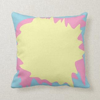Pastellfarben-Spritzer Kissen