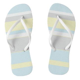 Pastellfarbstreifen drehen Reinfälle um Flip Flops