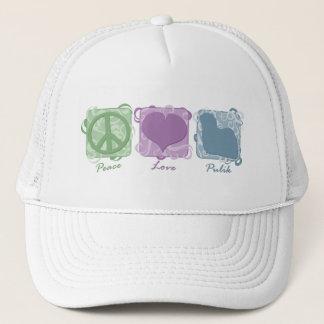 Pastellfrieden, Liebe und Pulik Truckerkappe