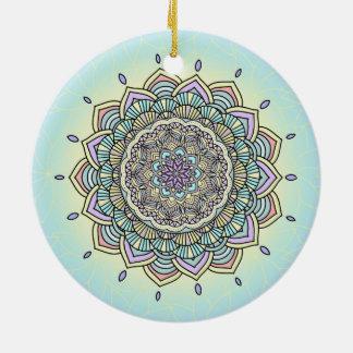 Pastellglühen Manala ID359 Rundes Keramik Ornament