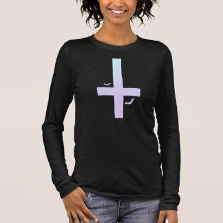 PastellGoth Kreuz Langarm T-Shirt