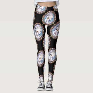 PastellGoth Skelett-Frau Leggings