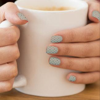 Pastellgrau gesteppte Origami Perle Minx Nagelkunst
