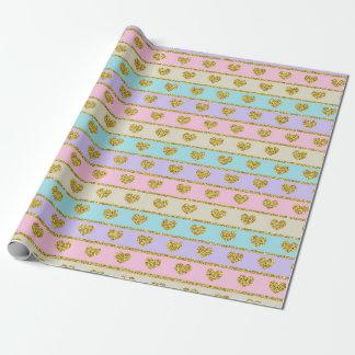 Pastellherz-Packpapier Geschenkpapier