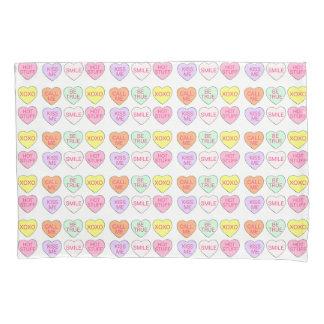 Pastellherz-Süßigkeits-Herz-Valentinstag-Kasten Kissen Bezug