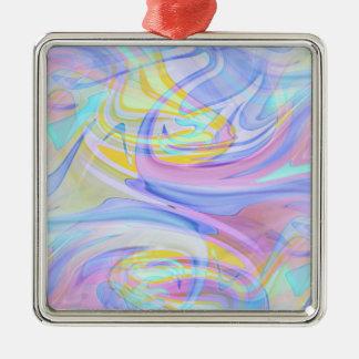 Pastellhologramm Silbernes Ornament