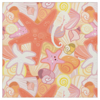 Pastellmonogramm der seegeschöpf-| stoff
