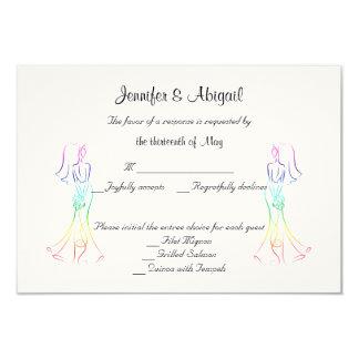 Pastellregenbogen-Braut-Hochzeits-Wartekarte 8,9 X 12,7 Cm Einladungskarte