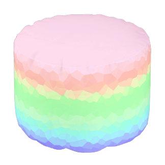 Pastellregenbogen-Eibisch-mehrfarbige Hocker