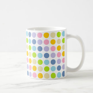 Pastellregenbogen-Tupfen Kaffeetasse