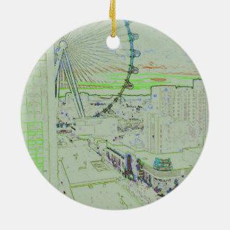 Pastellriesenrad-dekorative Verzierung Vegas Keramik Ornament