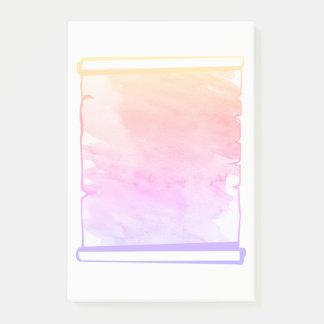 Pastellrosa-Aquarell-Rolle-Planer fügen an hinzu Post-it Klebezettel