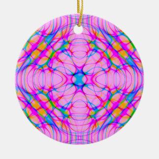 Pastellrosa-Kaleidoskop-Muster abstrakt Keramik Ornament