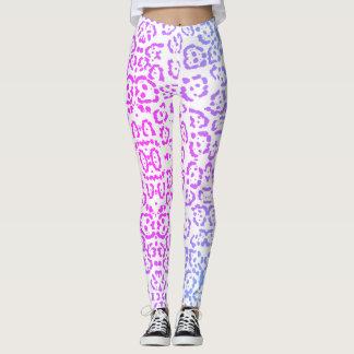 Pastellrosa-lila Leopard-Katzen-Tierdruck Leggings