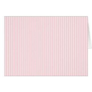 Pastellrosa-Süßigkeits-Streifen Karte