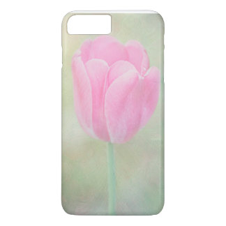 Pastellrosa-Tulpe-Telefon-Kasten iPhone 8 Plus/7 Plus Hülle