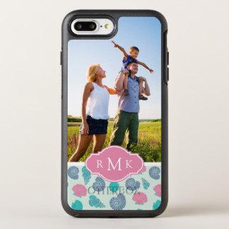 Pastellseashell-Muster   Ihr Foto u. Monogramm OtterBox Symmetry iPhone 8 Plus/7 Plus Hülle