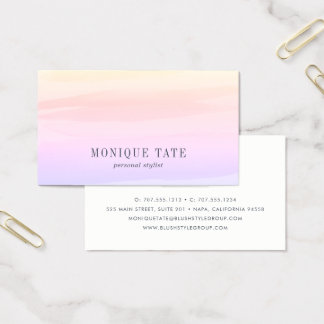 Pastellsonnenuntergang-Aquarell Visitenkarte