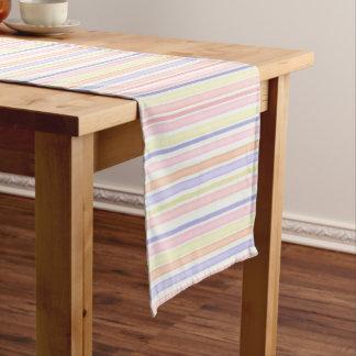 Pastellstreifen Kurzer Tischläufer
